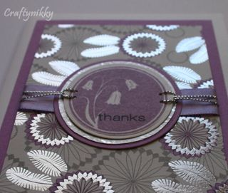 Craftynikky Thanks with silver touch card 1