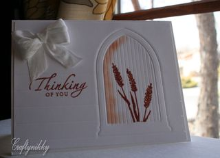 Craftynikky Thinking of you wheat window card 1