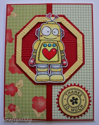 Craftynikky robot card 6
