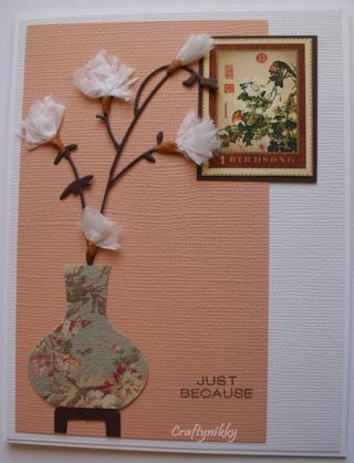 Craftynikky just because card 1