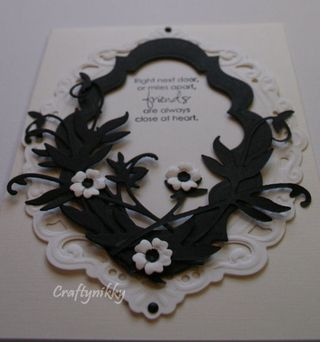 Craftynikky friends b&w card 1