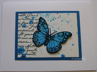 Craftynikky Butterfly series 2 card 1