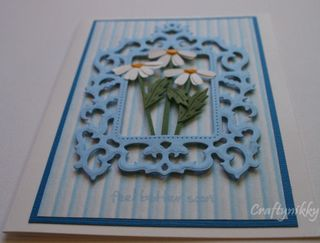 Craftynikky feel better soon daisies card 1