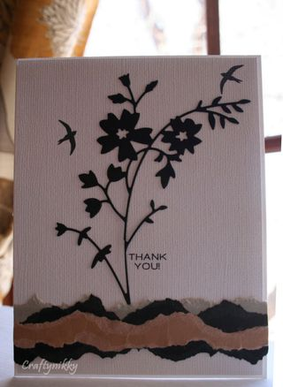 Craftynikky thank you silhouette card 1