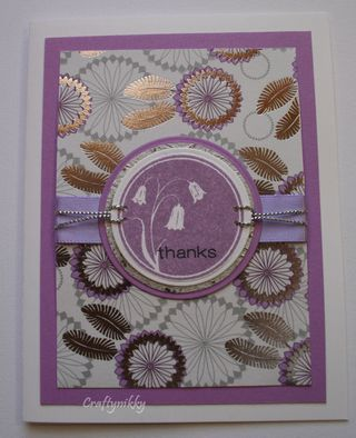 Craftynikky Thanks with a touch of silver card 2