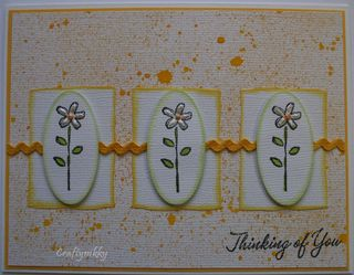 Craftynikky thiking of you flower trio card 3