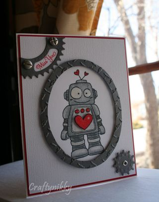 Craftynikky robot 1 card
