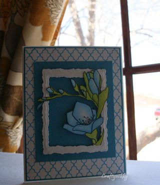 Craftynikky blue flower card 1
