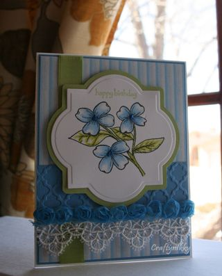 Craftynikky Happy Birthday flower card 2