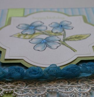 Craftynikky Happy Birthday flower card 3