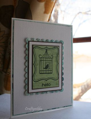 Craftynikky Hello card 2