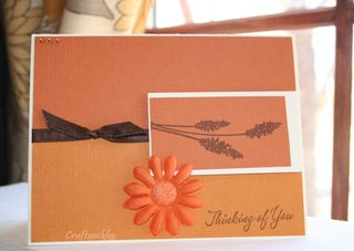 Craftynikky earthy tones thank you card 1