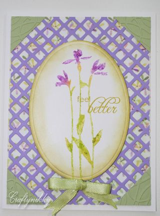 Craftynikky Feel better lattice card 2