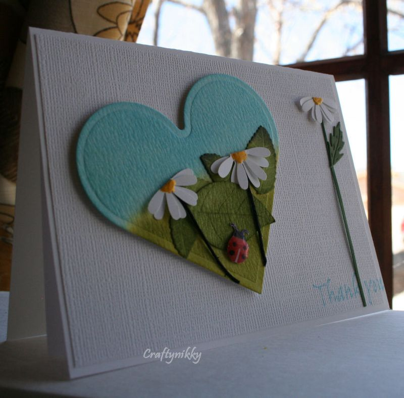 Craftynikky thank you heart card 2