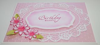 Craftynikky pink BD wishes card 1