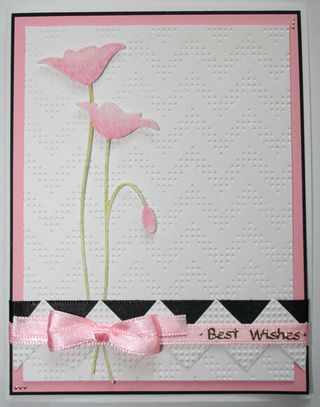 Craftynikky pink and black poppy card 2