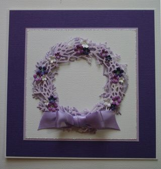 Craftynikky wreath card  for class 1