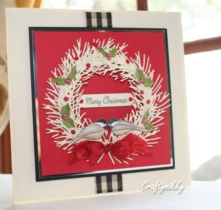 Craftynikky  second wreath card 1