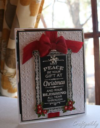 Craftynikky Christmas chalkboard card 5