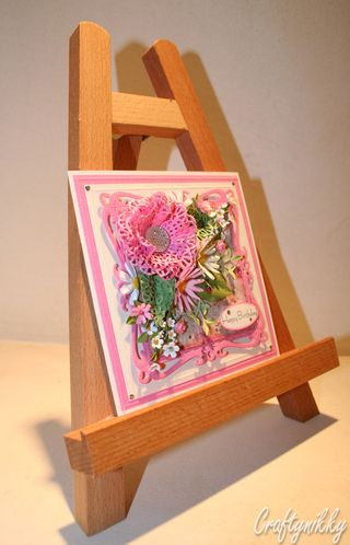 Craftynikky Birthday flower assortment card 1
