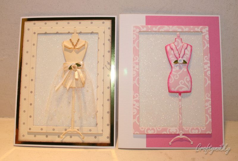 Craftynikky 2 dress form cards