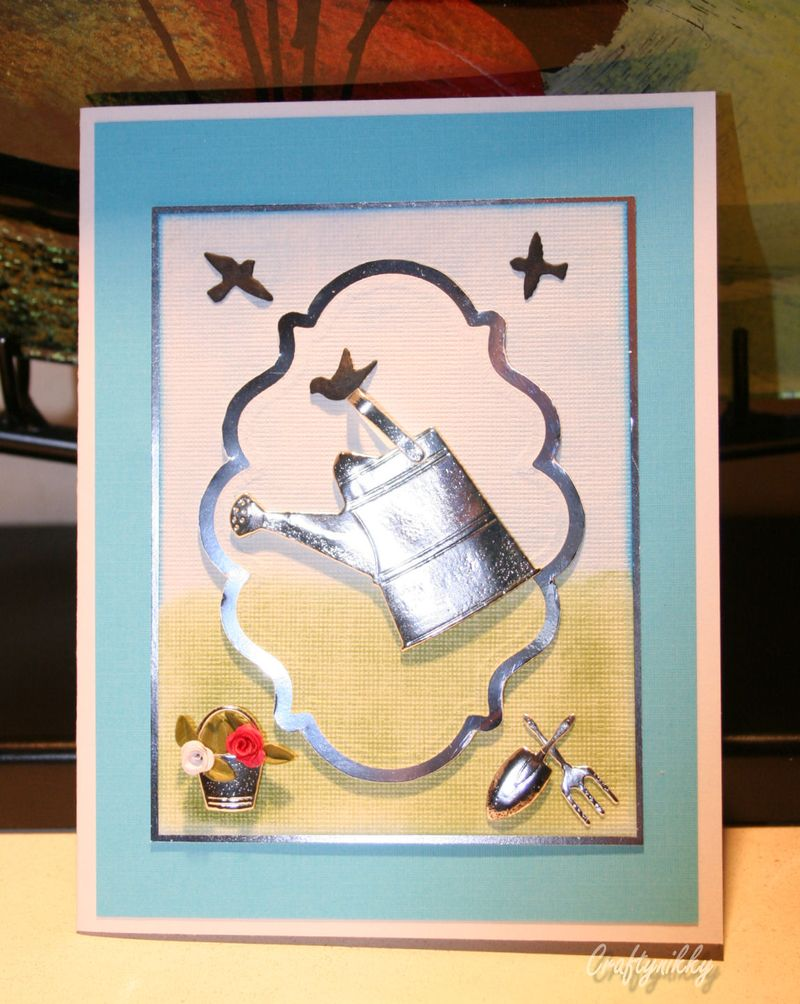 Craftynikky sample card water can 3