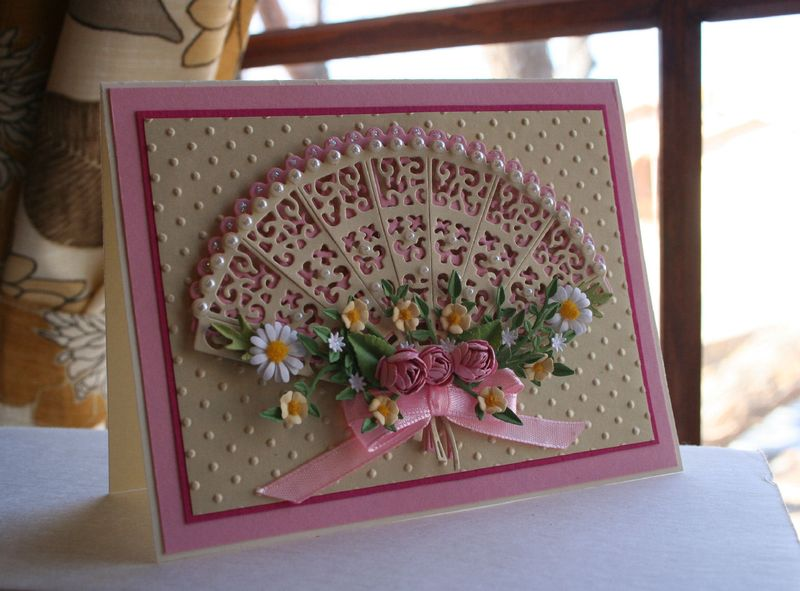 Craftynikky Tattered lace fan 1