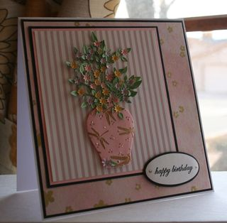 Craftynikky March Birthday card washi paper 1