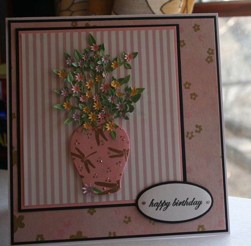 Craftynikky March Birthday card washi paper 3