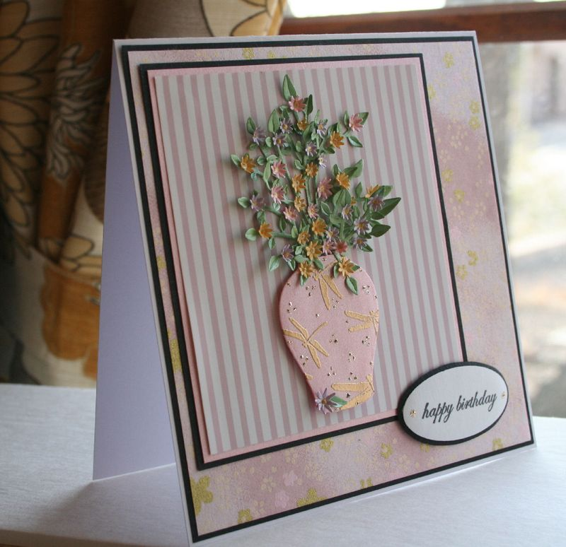 Craftynikky March Birthday card washi paper 5