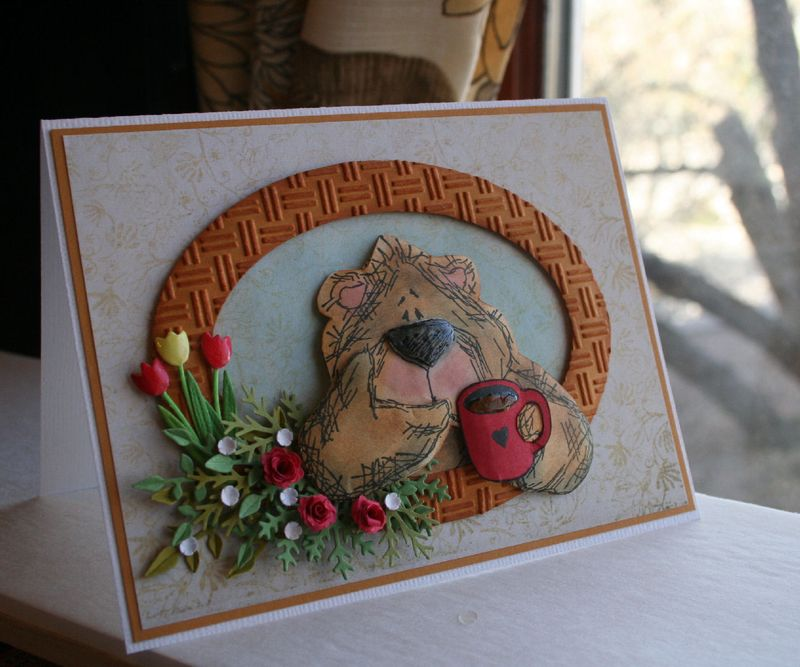 Craftynikky bear card 3