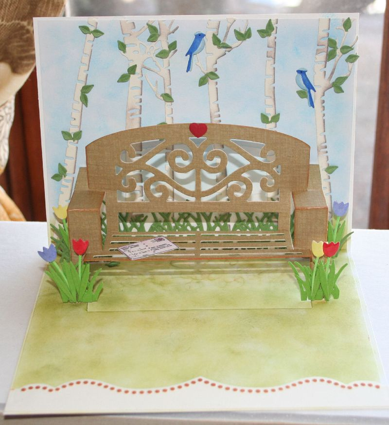 Craftynikky popup park bench 2