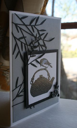 Craftynikky chickadee on tea pot card 1