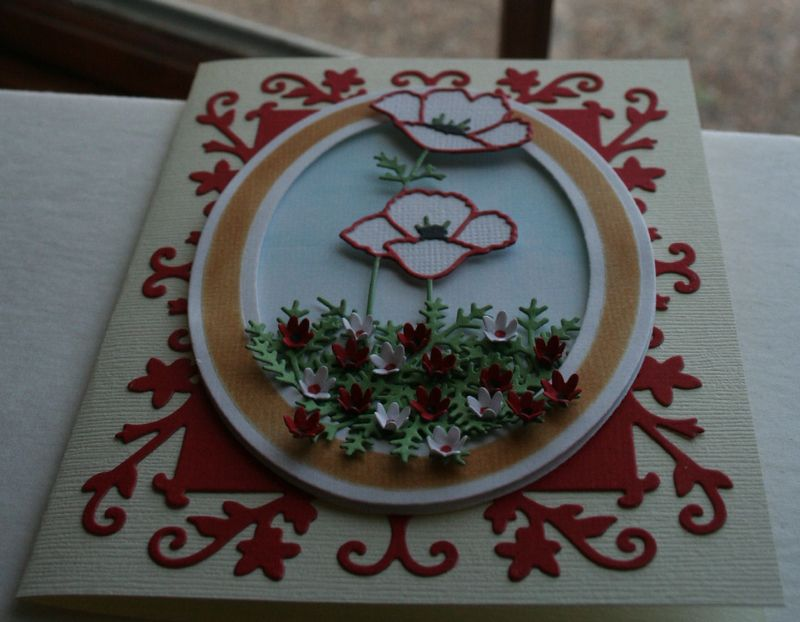 Craftynikky Darling poppies card 3
