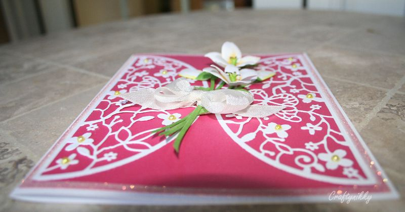 Craftynikky bunch of lilies for you card 1