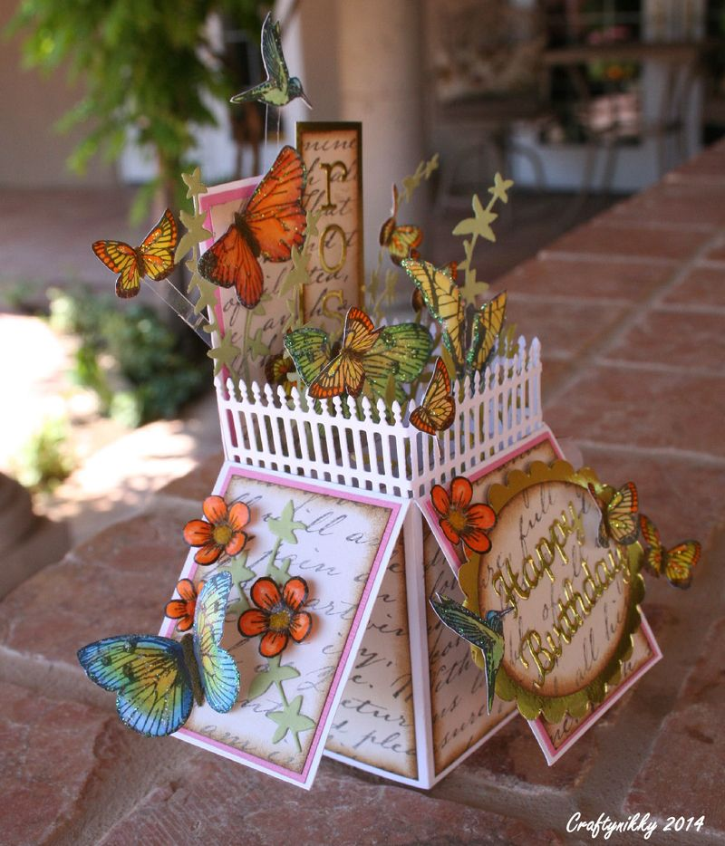 Craftynikky card box butterfly 6