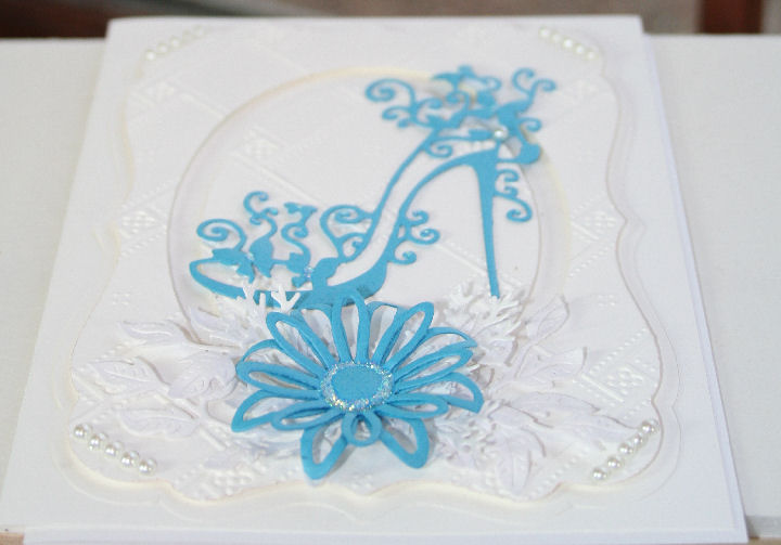 Craftynikky Blue shoe card 4