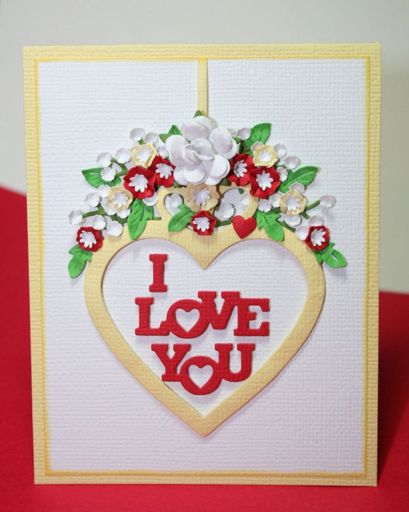 Craftynikky sample card  IO I love you 3