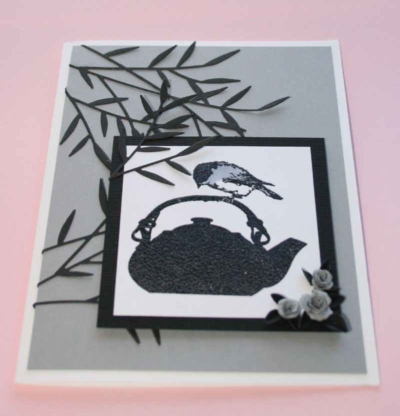Craftynikky chickadee on tea pot card 3