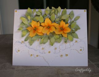 Craftynikky yellow lily card 2