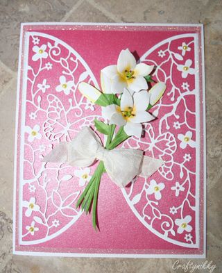 Craftynikky bunch of lilies for you card 3