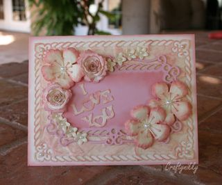Craftynikky I love you card 1