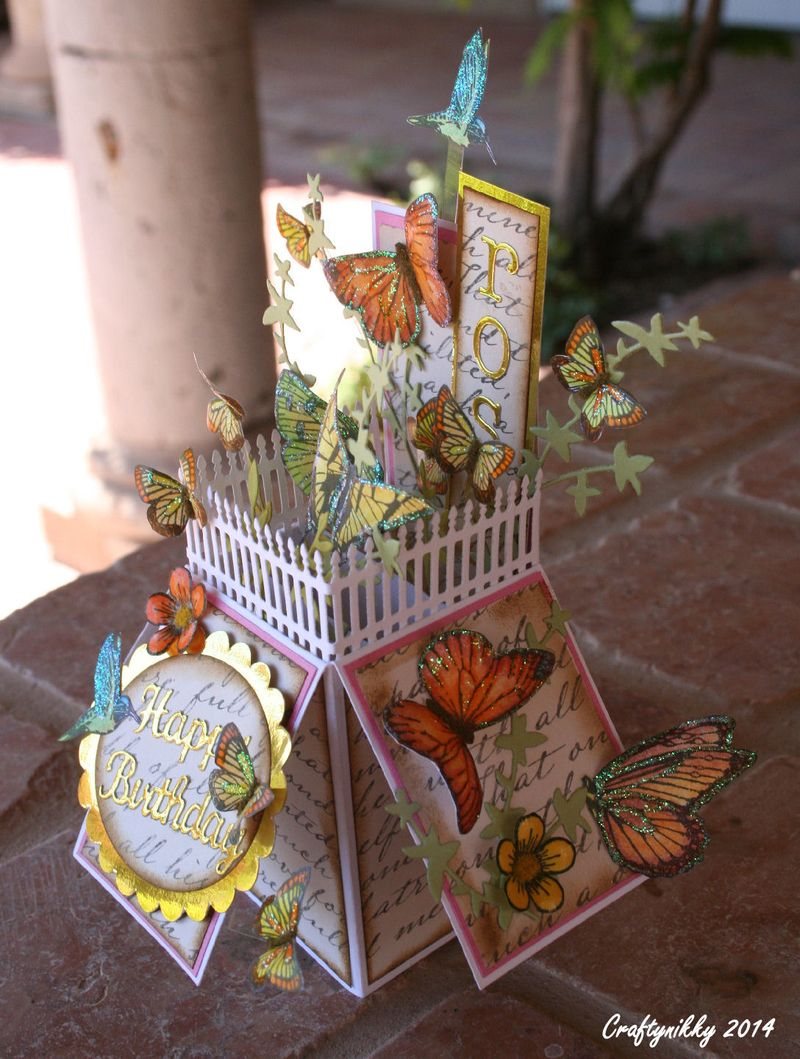 Craftynikky card box butterfly 5