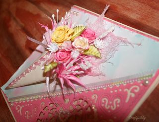 Craftynikky Flower cone card 2