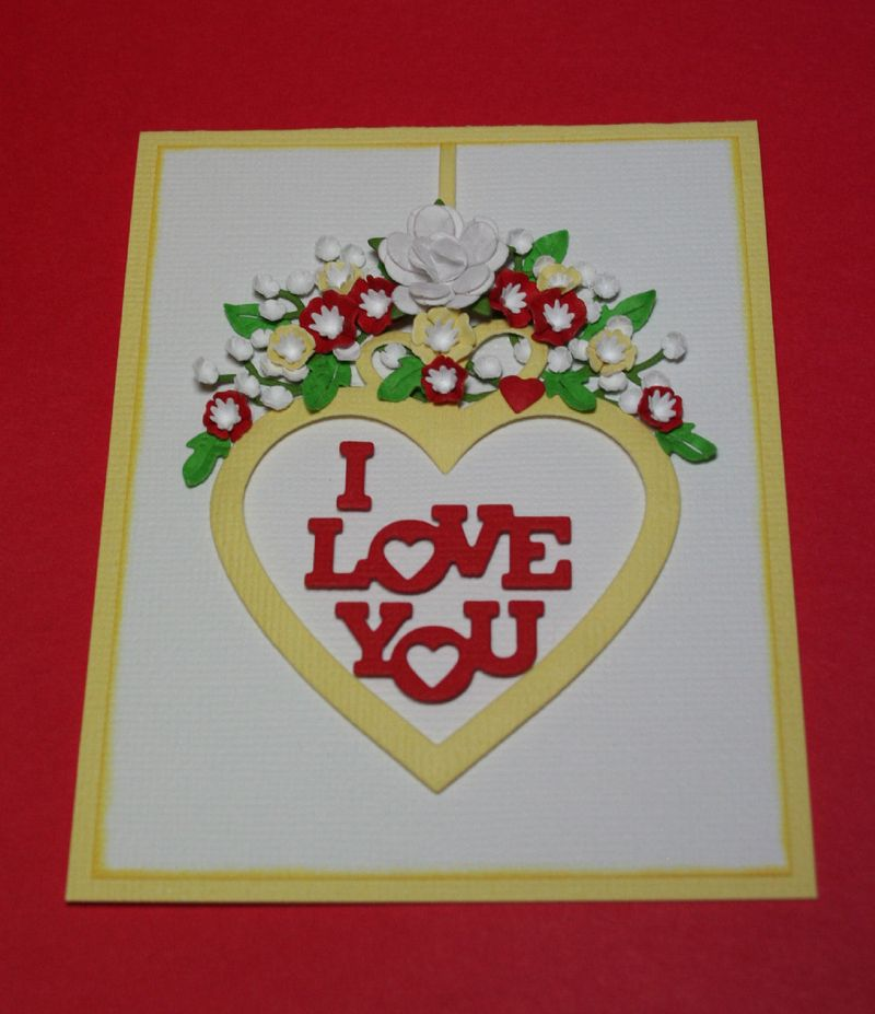 Craftynikky Sample card  IO I love you 1