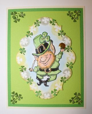 Craftynikky Leprechaun card 1