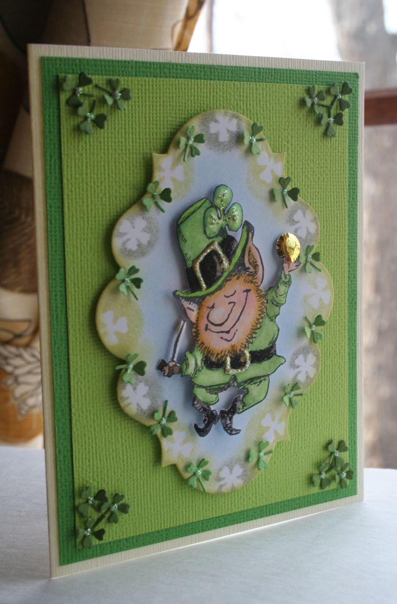 Craftynikky Leprechaun card 6