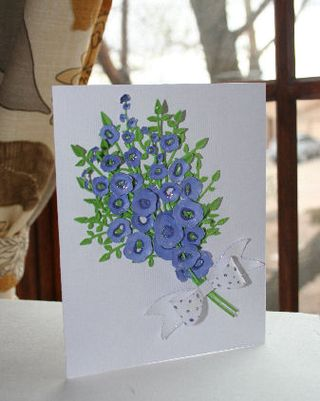 Craftynikky Hollyhock bunch card 1