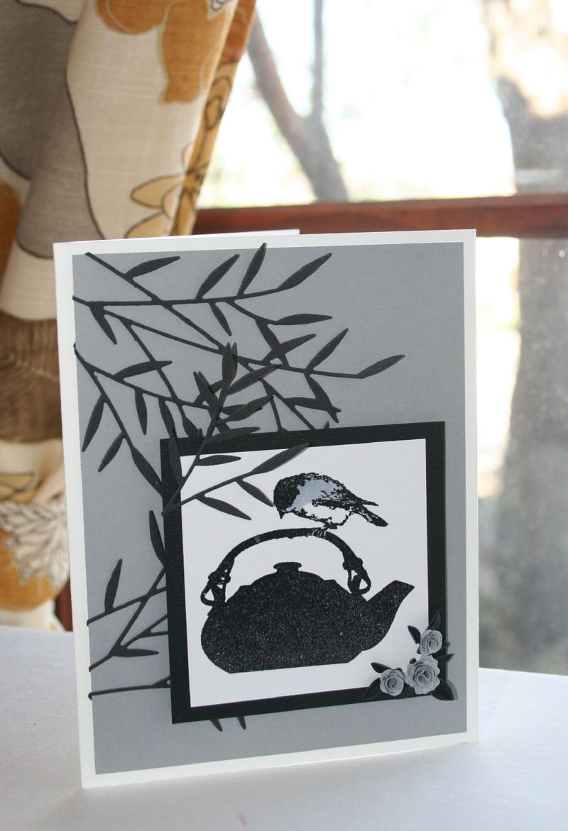 Craftynikky chickadee on tea pot card 5