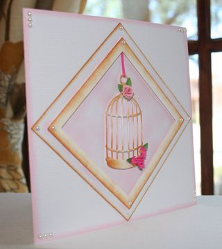 Craftynikky birdcage sample card 2